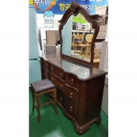 엔틱 와이드서랍장+화장대 (거울.의자포함)
