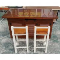 원목 아일랜드 식탁 세트 의자 2EA+유리포함
